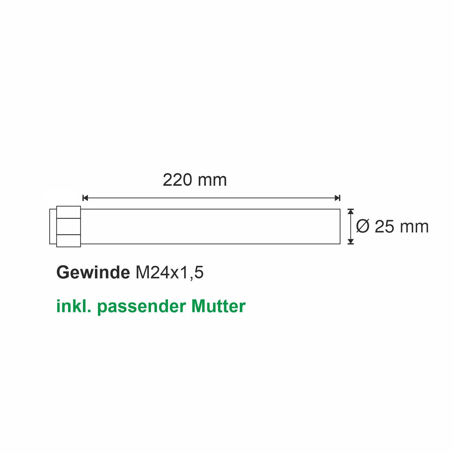Selbstsichernde Mutter M42x3